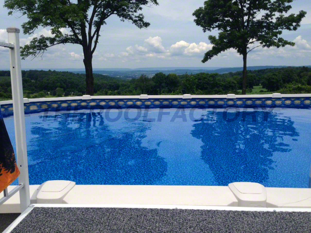 Saltwater 8000 swimming pool gallery the pool factory for Top of the line above ground pools