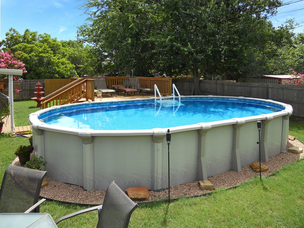 Oval above ground pools uniquely awesome above ground for On ground pools