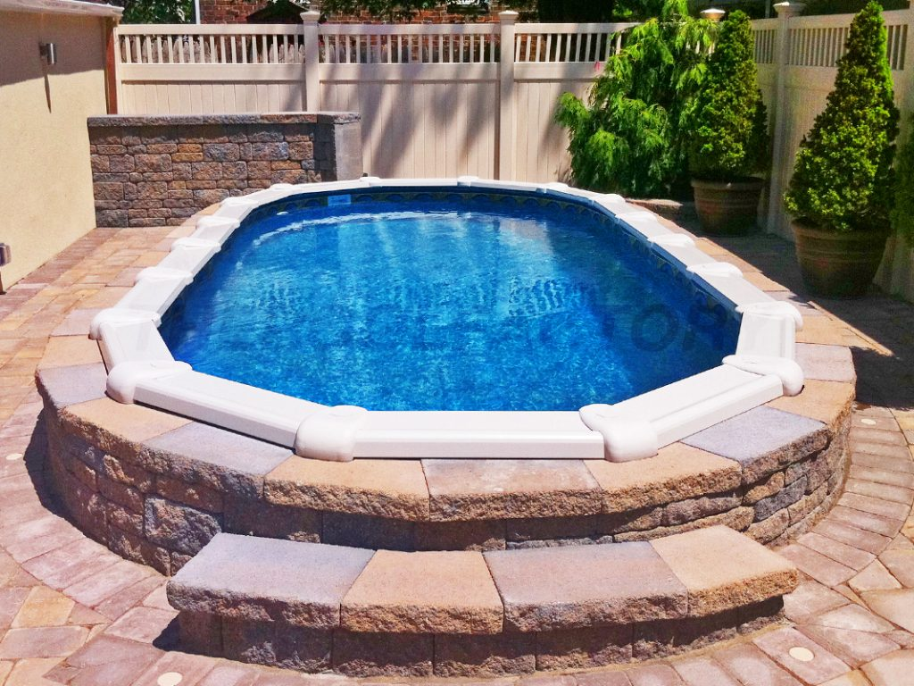 Landscaping around your above ground pool for Above ground pools