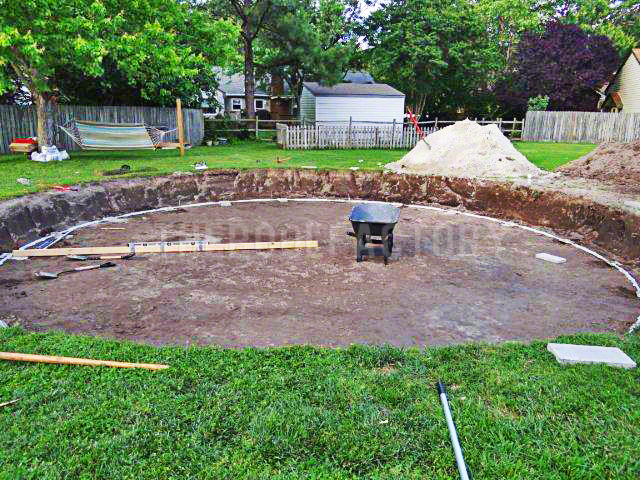 Above ground pool installation photos the pool factory for Above ground pool setup ideas