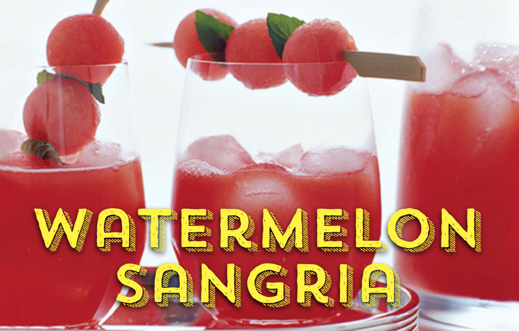 Watermelon Sangria Creative Drinks