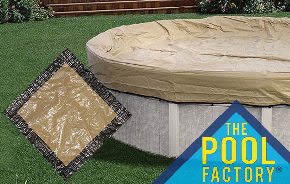Best above ground winter pool covers the pool factory for Above ground pool winter cover ideas