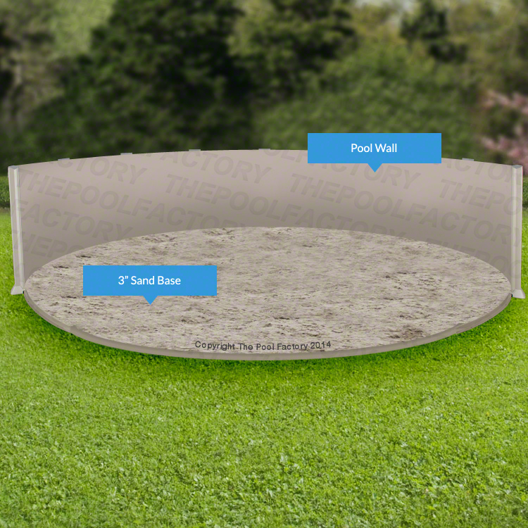 How to install a base for your above ground pool liner for Above ground pool setup ideas