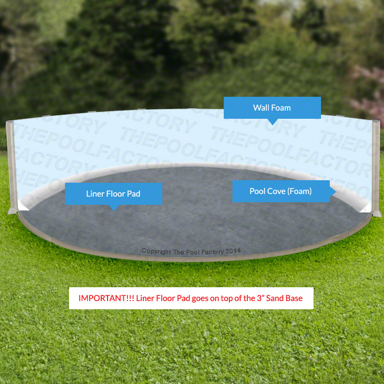 How to install a base for your above ground pool liner for Pool installation