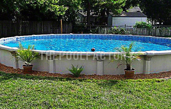 Backyard Landscaping Around Above Ground Pool : Backyard around above ground pool landscape ideas for