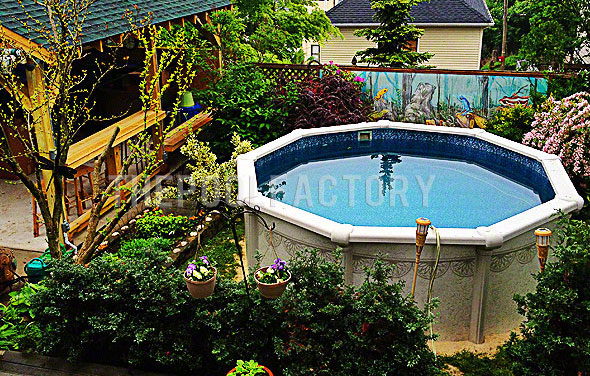 Garden Ideas Around Above Ground Pool : Landscaping around your above ground pool