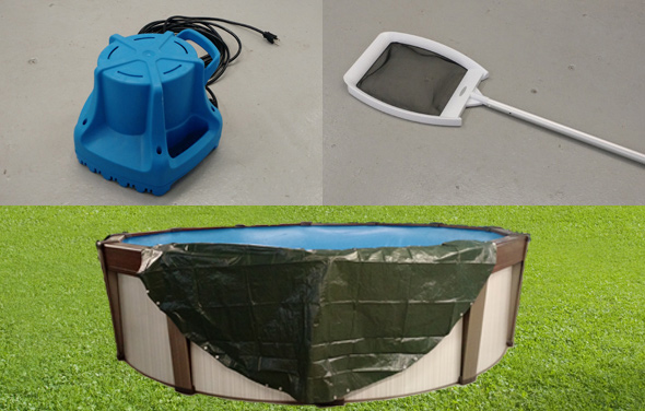 pool opening cover storage