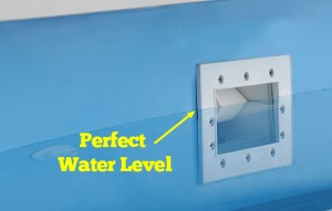 Perfect water level for above ground pool