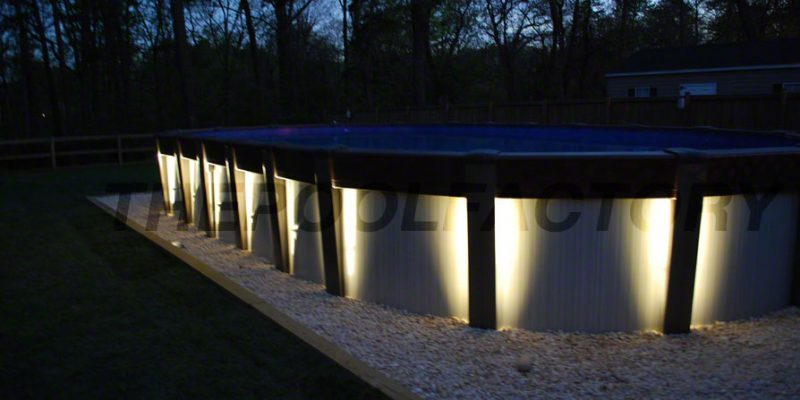 Oval Above Ground Pool with Lights