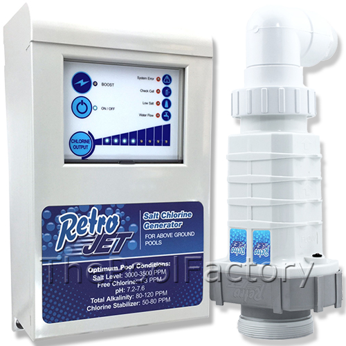 Solaxx retro jet rj salt water chlorine generator - Swimming pool chlorine concentration ...