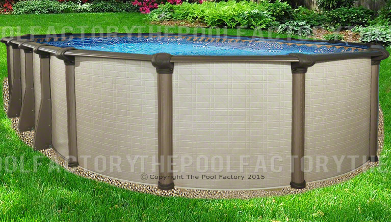 18x40x54 melenia oval above ground swimming pool package for Above ground pool deals