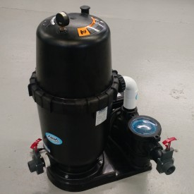 Relocate your filter pump so that it will not be submerged in floodwaters.