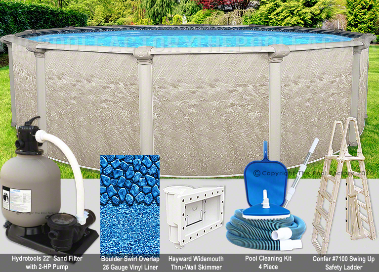 27 round 52 high above ground swimming pool package for Above ground pool deals