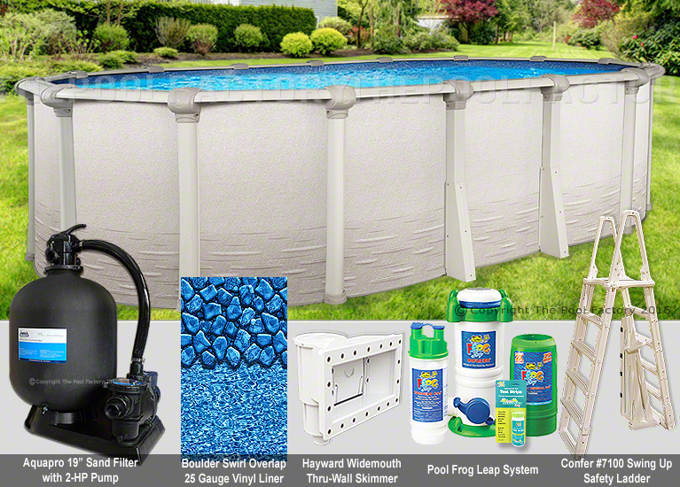 Oval Above Ground Swimming Pool Package 60 Year Warranty