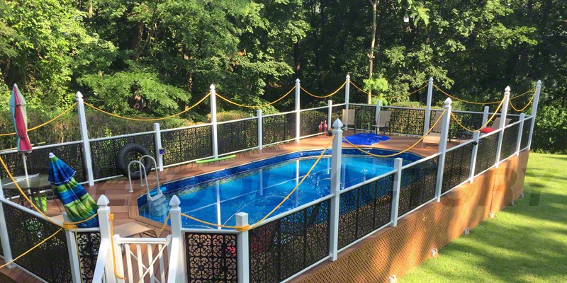 Pool Deck Ideas Part - 41: ... Above Ground Pool With Deck ...