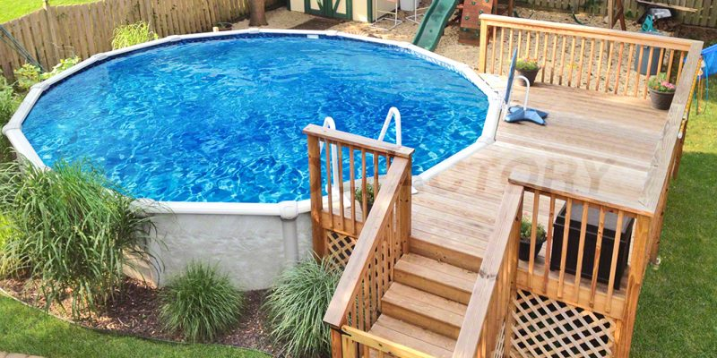 above ground pool 523