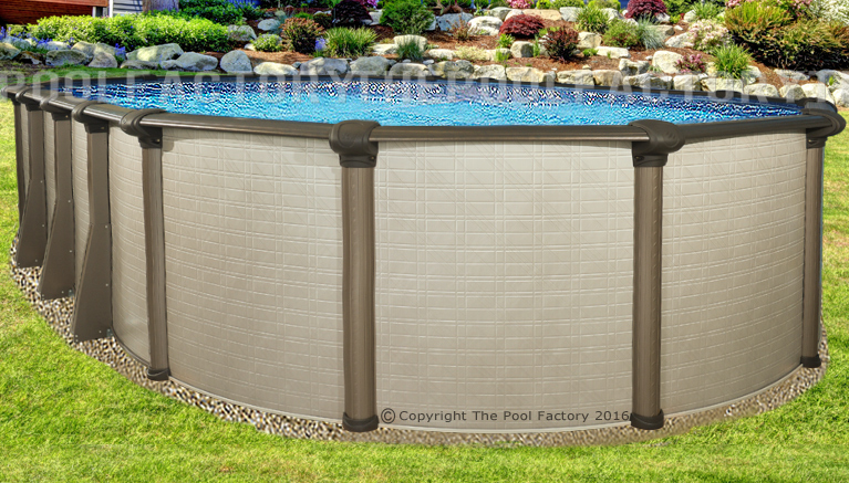 18x33 Oval 54 High Melenia Above Ground Swimming Pool With 25 Gauge Liner Ebay