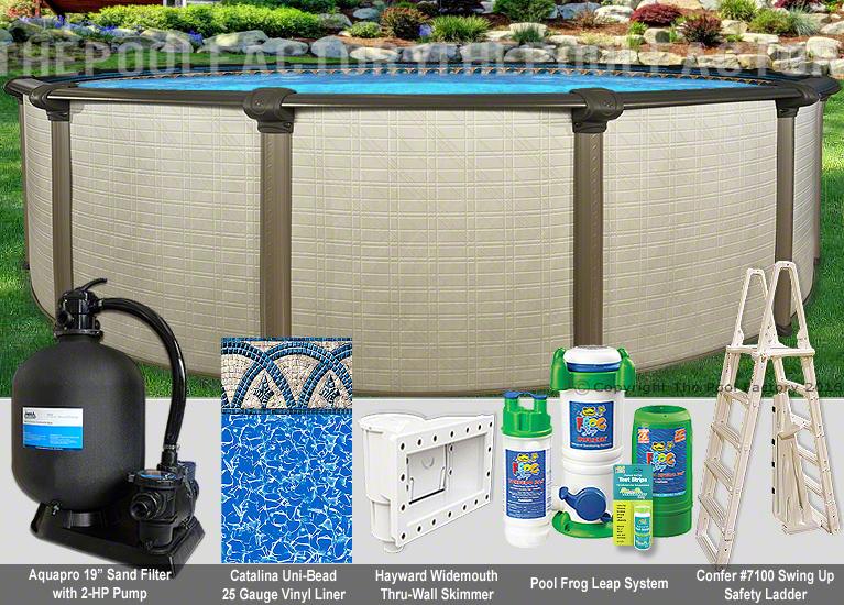 27x54 Melenia Round Above Ground Swimming Pool Package 50 Year Warranty Ebay