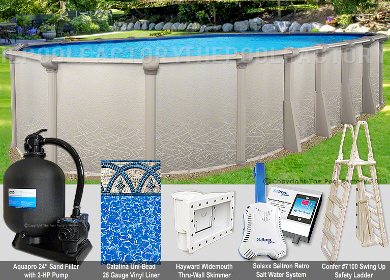18x33 Oval 52 High Saltwater 5000 Above Ground Salt Swimming Pool Package Ebay