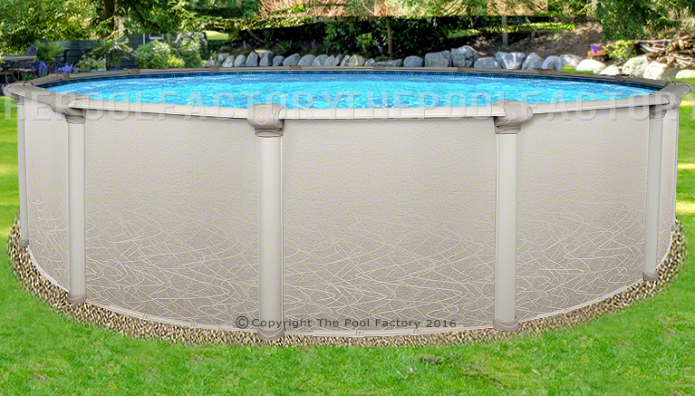 30x52 Round Saltwater 5000 Above Ground Salt Swimming Pool With 25 Gauge Liner Ebay