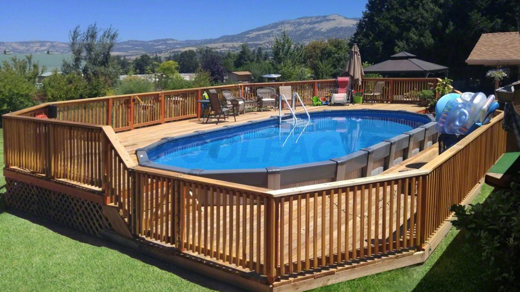 Preference pool gallery for Above ground pool siding ideas