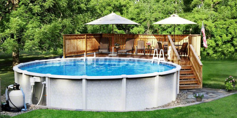 Backyard Pool Deck Ideas pool deck ideas (partial deck) - the pool factory