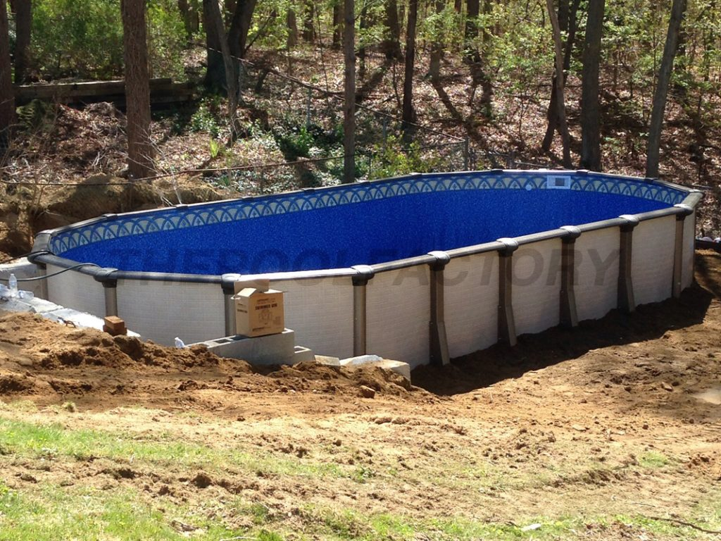 Above ground pool installation photos the pool factory for On ground pools