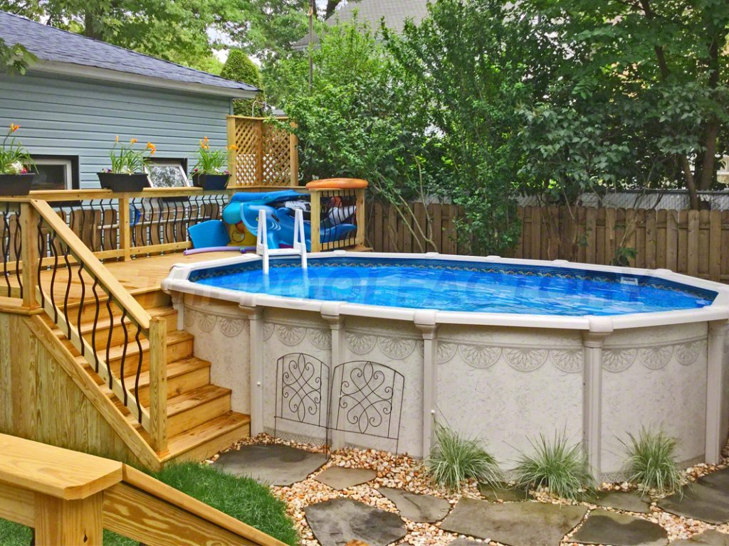 Pool Deck Ideas (Partial Deck) - The Pool Factory on Pool Patios Ideas id=62051