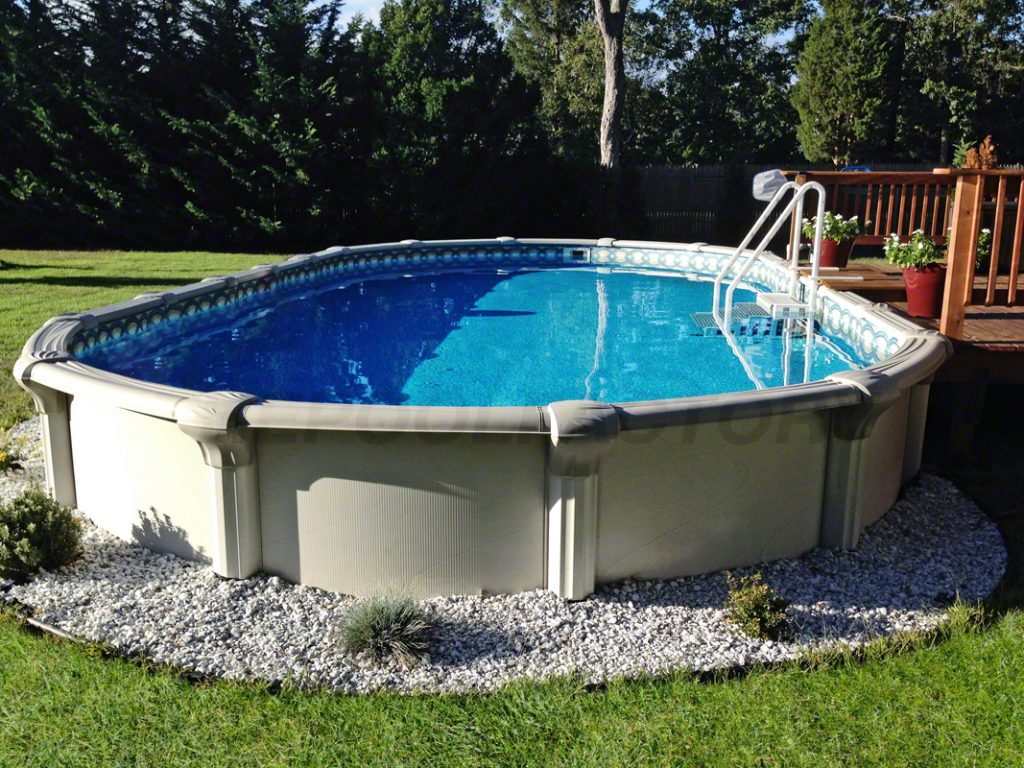 How to purchase an above ground pool the pool factory for Resin above ground swimming pools