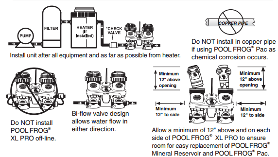 Pool Frog Xl Pro Mineral System Inline Installation And