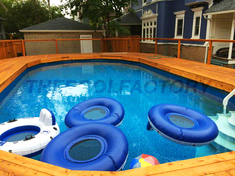 Free Standing Above Ground Swimming Pools: Pool Deck Ideas (Full Deck)