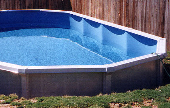 Pool with Low Water Level