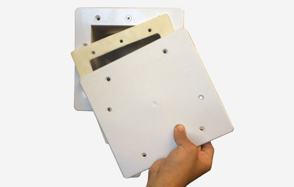 Skimmer Winterizing Plate Installation Step 2