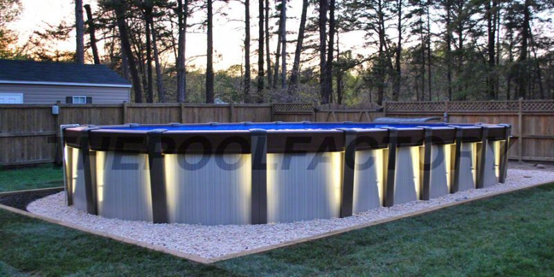 Contempra Above Ground Pool with Lights