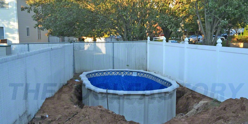 Hampton Semi Inground Pool Installation