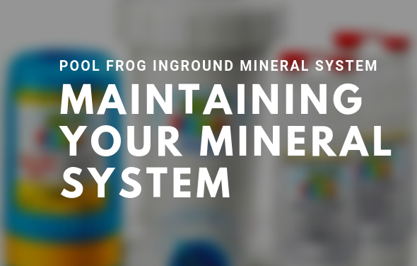 MAINTAINING YOUR POOL FROG INGROUND MINERAL SYSTEM